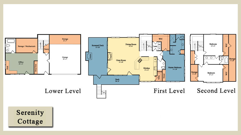 New construction homes for sale split levels for Two story master down floor plans